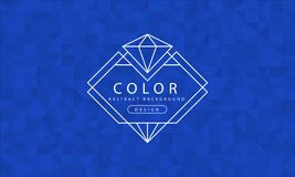 Fondo azul abstracto, texturas azules, papel pintado azul de la bandera, color azul del polígono, ejemplo del vector stock de ilustración