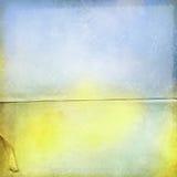 Fondo azul amarillo del grunge Fotografía de archivo