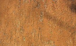 Fondo azul anaranjado oxidado de la textura de la hoja de metal Imagen de archivo