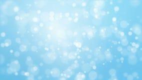 Fondo azul animado del bokeh que brilla intensamente