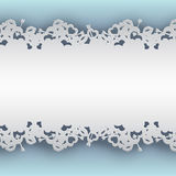 Fondo azul atado con los corazones Fotos de archivo libres de regalías