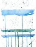 Fondo azul-blanco de la acuarela Foto de archivo
