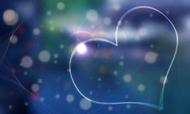 Fondo azul blanco de la gema y del corazón cuyo él GR Imágenes de archivo libres de regalías