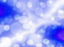 Fondo azul borroso con las estrellas Abstracci?n Tema de la Navidad fotografía de archivo