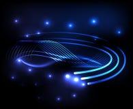 Fondo azul brillante abstracto ilustración del vector