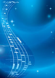 Fondo azul brillante de la música con pendiente Imágenes de archivo libres de regalías