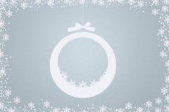 Fondo azul claro de la Navidad Fotografía de archivo