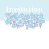 Fondo azul claro de la uva de vino del color stock de ilustración