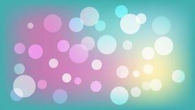 Fondo azul claro del vector con los círculos Ejemplo con el sistema de brillar la gradación colorida Modelo para los folletos, pr stock de ilustración