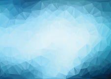 Fondo azul claro poligonal Fotografía de archivo libre de regalías