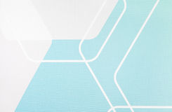 Fondo azul claro y blanco de la textura geométrica regular de la tela, modelo del paño Fotos de archivo libres de regalías