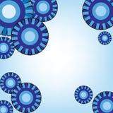 Fondo azul con diseño abstracto de los círculos Imágenes de archivo libres de regalías
