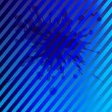 Fondo azul con el modelo de la raya Foto de archivo libre de regalías