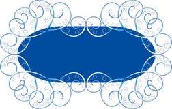 Fondo azul con el ornamento Fotografía de archivo