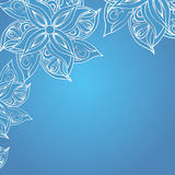 Fondo azul con el ornamento floral Libre Illustration