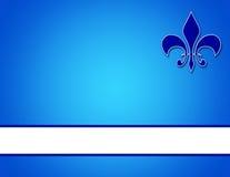 Fondo azul con insignias Foto de archivo libre de regalías
