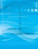 Fondo azul con la línea y el cuadrado Fotografía de archivo libre de regalías
