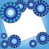 Fondo azul con la plantilla abstracta del diseño de los círculos Fotos de archivo