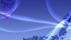 Fondo azul con las curvas y la decoración pulidas blancas de tri Fotos de archivo libres de regalías