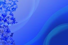 Fondo azul con las curvas y la decoración pulidas blancas de tri Fotografía de archivo libre de regalías