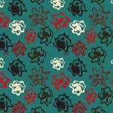 Fondo azul con las figuras abstractas varicoloured Imagen de archivo libre de regalías
