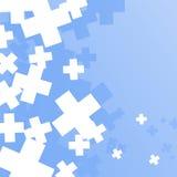 Fondo azul con las muestras más ilustración del vector