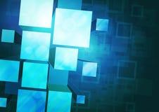 Fondo azul con las prismas Foto de archivo libre de regalías