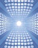 Fondo azul con los círculos Imagen de archivo
