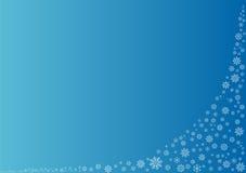 Fondo azul con los copos de nieve Fotos de archivo libres de regalías