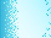 Fondo azul con los pixeles Imágenes de archivo libres de regalías