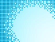 Fondo azul con los pixeles Imagen de archivo libre de regalías