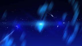Fondo azul con los puntos y los cristales brillantes ilustración del vector