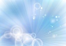 Fondo azul con los rayos Foto de archivo