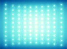Fondo azul con luces tenues minúsculas Fotos de archivo libres de regalías