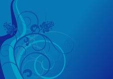 Fondo azul con motivos azules del tono ilustración del vector