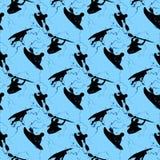 Fondo azul con un kajak Imagen de archivo libre de regalías