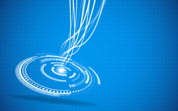 Fondo azul de alta tecnología abstracto Foto de archivo libre de regalías