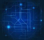 Fondo azul de alta tecnología abstracto Foto de archivo