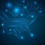 Fondo azul de alta tecnolog?a abstracto. Foto de archivo