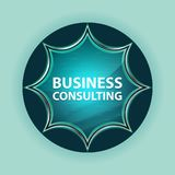 Fondo azul de azul de cielo del botón del resplandor solar vidrioso mágico de la consultoría de negocios fotos de archivo libres de regalías