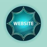 Fondo azul de azul de cielo del botón del resplandor solar vidrioso mágico de la página web libre illustration