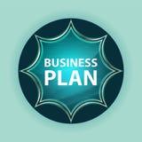 Fondo azul de azul de cielo del botón del resplandor solar vidrioso mágico del plan empresarial imagen de archivo libre de regalías