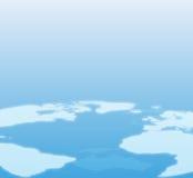 Fondo azul de correspondencia de mundo Foto de archivo