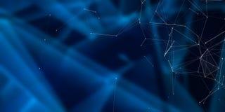 Fondo azul de Digitaces ilustración del vector