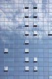 Fondo azul de edificio de oficinas de la ventana en la ciudad de Zagreb Fotografía de archivo libre de regalías