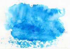 Fondo azul de la acuarela Fotos de archivo libres de regalías