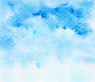 Fondo azul de la acuarela Imagenes de archivo