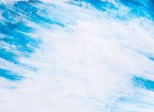 Fondo azul de la acuarela Imagen de archivo