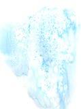 Fondo azul de la acuarela Imagen de archivo libre de regalías