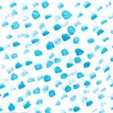 Fondo azul de la acuarela abstracta de la mano, ejemplo de la trama Imagenes de archivo